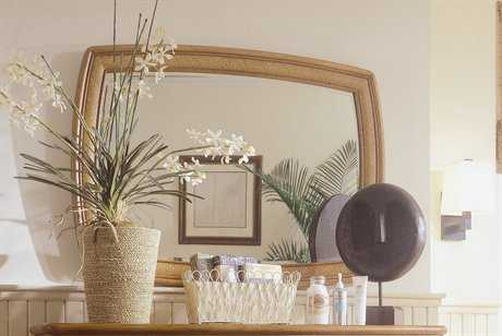 American Drew Antigua 48 x 36 Toasted Almond Accent Dresser Mirror
