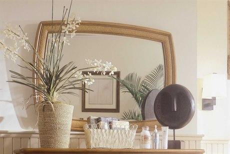 American Drew Antigua 48 x 36 Toasted Almond Accent Dresser Mirror