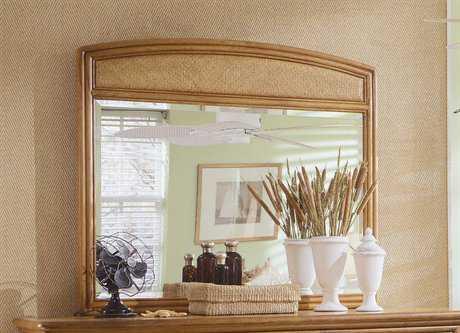 American Drew Antigua 46 x 43 Toasted Almond Dresser Mirror