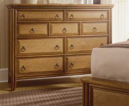 American Drew Antigua Toasted Almond Tall Drawer Dresser