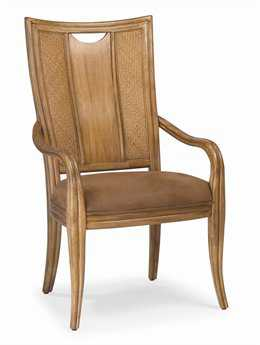American Drew Antigua Toasted Almond Splat Back Arm Chair (Sold in 2)