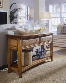American Drew Antigua Toasted Almond 50 x 16 Console Table