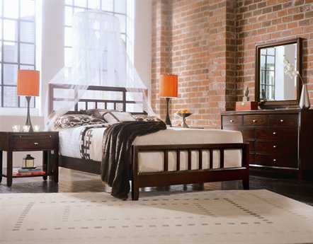 American Drew Tribecca Root Beer Color Bedroom Set