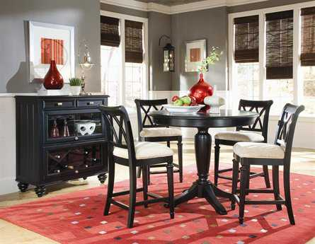 American Drew Camden Dark Black Dining Set