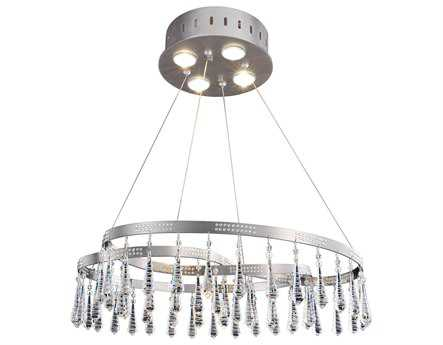 Allegri Ravina Stainless Steel Four-Light Convertible Pendant
