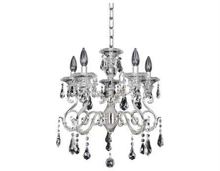 Allegri Haydn Silver Five-Light 18'' Wide Chandelier