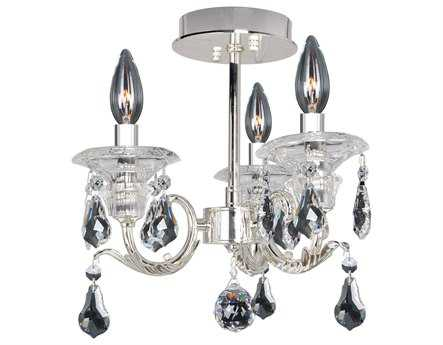 Allegri Haydn Silver Three-Light Semi-Flush Mount Light