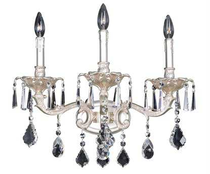 Allegri Marcello Antique Silver Three-Light Wall Sconce