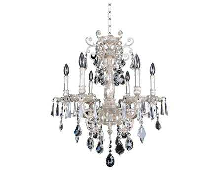 Allegri Marcello Silver Antique Six-Light 26'' Wide Grand Chandelier