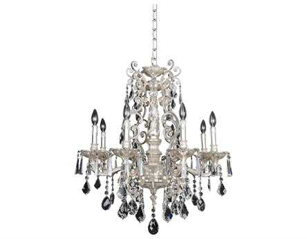 Allegri Marcello Antique Silver Eight-Light 28'' Wide Grand Chandelier