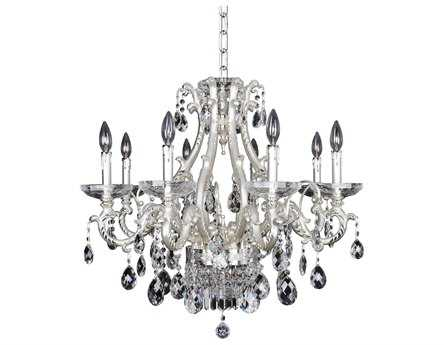 Allegri Rossi Silver Ten-Light 29'' Wide Chandelier
