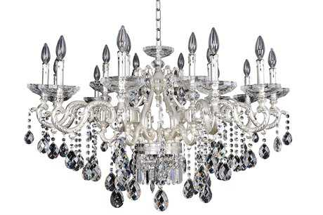 Allegri Rossi Silver 20-Light 39'' Wide Grand Chandelier