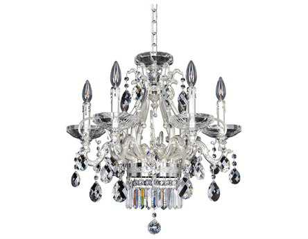 Allegri Rossi Silver Six-Light 21'' Wide Chandelier