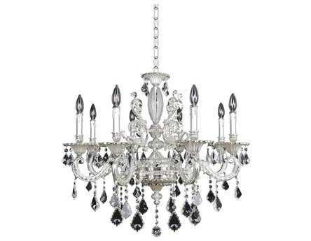 Allegri Casella Silver Eight-Light 30'' Wide Grand Chandelier
