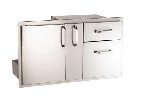 AOG 36-Inch Door with Double Drawer & Platter storage