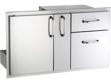 AOG 36-Inch Door with Double Drawer & Platter storage PatioLiving