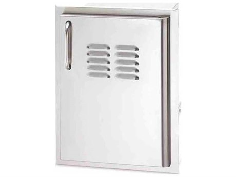 AOG 14 Inch Left Hinged Vertical Single Access Door With Tank Tray & Louvers