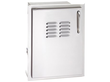 AOG 14 Inch Vertical Right Single Access Door With Tank Tray And Louvers