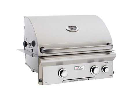 AOG L Series Built-in 24''  BBQ Grill with Rotisserie and Back Burner