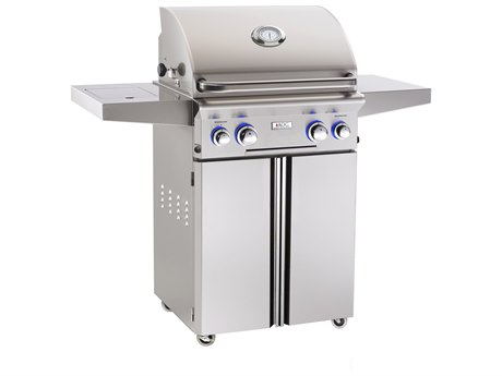 AOG L Series Portable 24'' On Cart  BBQ Grill with Rotisserie Back Burner & Side Burner PatioLiving