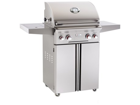 AOG T Series Portable 24'' On Cart  BBQ Grill with Rotisserie Back Burner & Side Burner PatioLiving