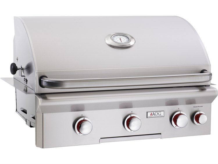AOG T Series Built-in 30''  BBQ Grill with Rotisserie and Back Burner PatioLiving