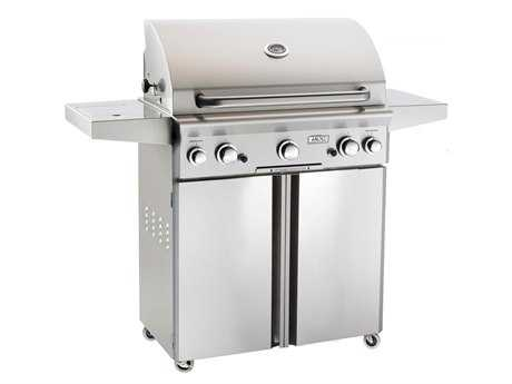 AOG L Series Portable 30'' On Cart  BBQ Grill with Rotisserie Back Burner & Side Burner