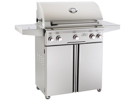 AOG T Series Portable 30'' On Cart  BBQ Grill with Rotisserie Back Burner & Side Burner PatioLiving