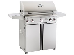 T Series Portable 30'' On Cart  BBQ Grill with Rotisserie Back Burner & Side Burner