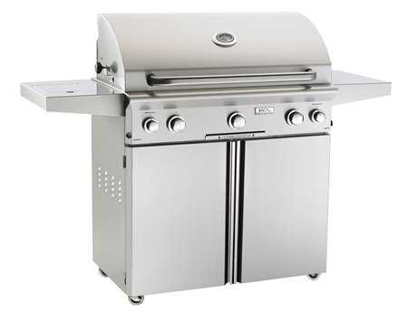 AOG L Series Portable 36'' On Cart  BBQ Grill with Rotisserie Back Burner & Side Burner