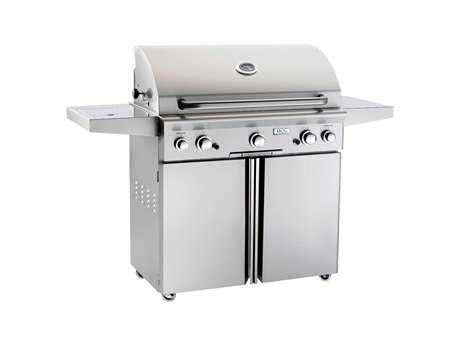 AOG T Series Portable 36'' On Cart  BBQ Grill with Rotisserie Back Burner & Side Burner