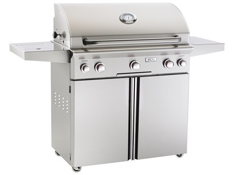 AOG T Series Portable 36'' On Cart  BBQ Grill with Rotisserie Back Burner & Side Burner PatioLiving