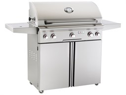 T Series Portable 36'' On Cart  BBQ Grill with Rotisserie Back Burner & Side Burner
