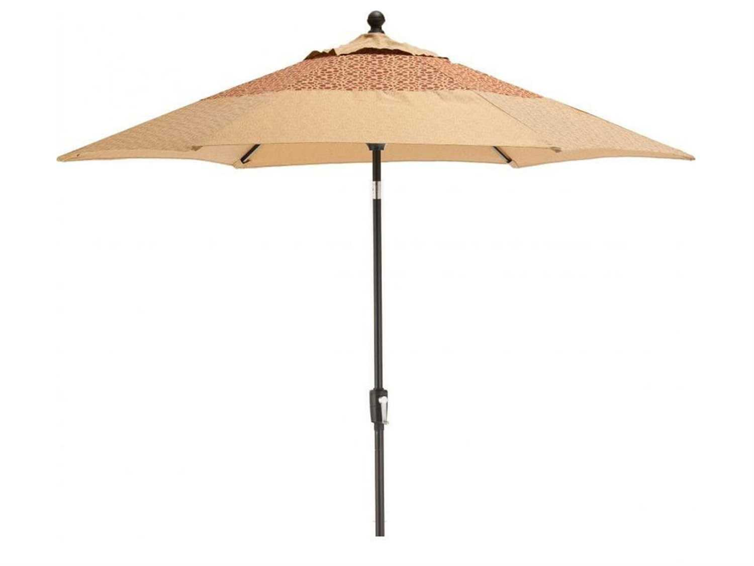 Agio heritage aluminum 9ft crank lift tilt market umbrella for Agio heritage chaise lounge