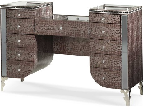 Aico Furniture Michael Amini Hollywood Swank Amazing Gator Vanity