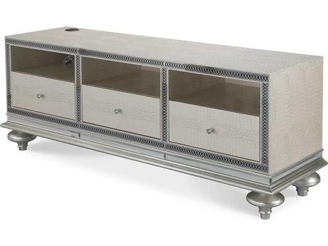 Aico Furniture Michael Amini Hollywood Swank Crystal Croc 74''W x 21''D Rectangular Entertainment Console