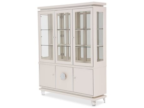 Aico Furniture Michael Amini Glimmering Heights Ivory China Cabinet
