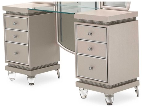 Aico Furniture Michael Amini Glimmering Heights Ivory Vanity AIC9011058111