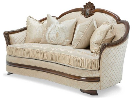 Aico Furniture Michael Amini Bella Veneto Cognac Loveseat