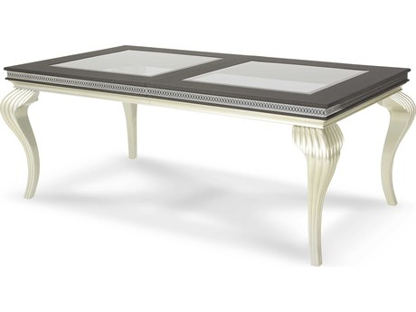 Aico Furniture Michael Amini Hollywood Swank Caviar 78-102''W x 42''D Rectangular Dining Table AICNT0300085