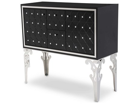 Aico Furniture Michael Amini Hollywood Swank Starry Night Black Onyx Sideboard