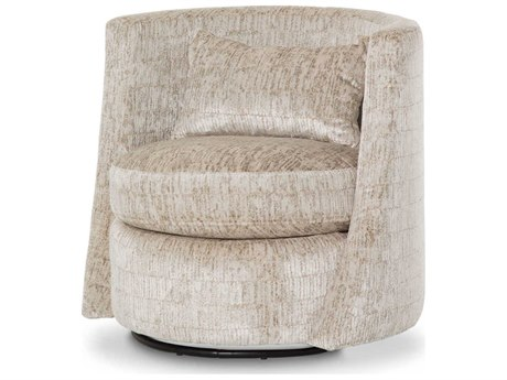 Aico Furniture Michael Amini Brayson Metallic Swivel Accent Chair