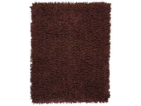 Anji Mountain Silky Shag Rectangular Coffee Bean Area Rug