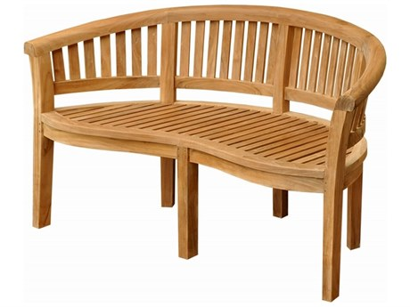 Anderson Teak Curve 3 Seater Bench Extra Thick Wood PatioLiving