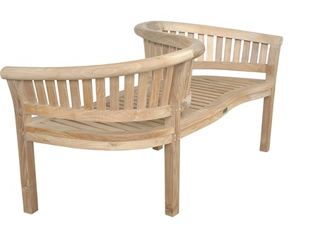 Anderson Teak Curve Loveseat Bench