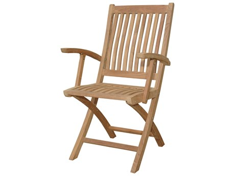 Anderson Teak Tropico Folding Dining Armchair (Set of Two) PatioLiving