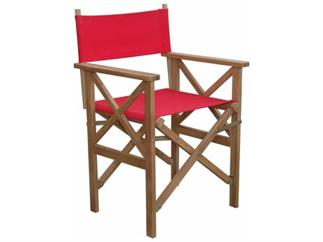 Anderson Teak Director Folding Armchair W/ Canvas ( Sold As A Pair) PatioLiving