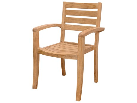 Anderson Teak Catalina Stackable Armchair (Sold as Set of Four) AKCHS033