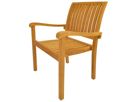 Anderson Teak Aspen Stackable Armchair (Sold as Set of Four) AKCHS055