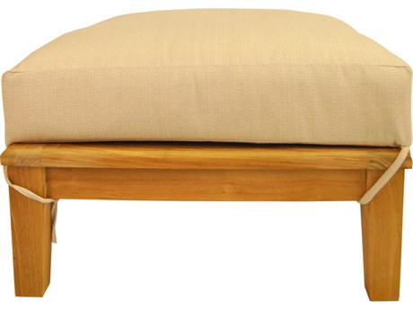Anderson Teak Brianna Ottoman + Cushion PatioLiving